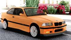 BMW E36 Coupe Orange para GTA San Andreas