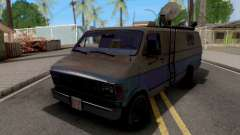 Dodge Ram Van 1989 San News para GTA San Andreas
