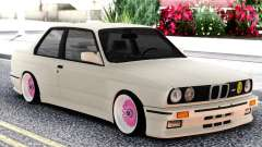 BMW E30 White Sedan para GTA San Andreas