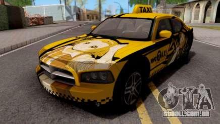 Dodge Charger SRT8 Taxi Itasha para GTA San Andreas