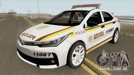 Toyota Corolla 2017 Brigada Militar para GTA San Andreas