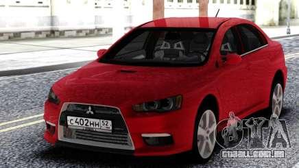 Mitsubishi Red Lancer 10 para GTA San Andreas