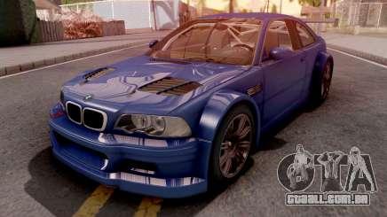 BMW M3 E46 GTR Blue para GTA San Andreas