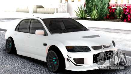 Mitsubishi White Lancer Evo 9 para GTA San Andreas