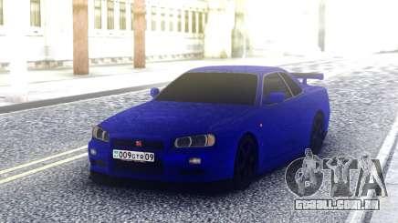 Nissan Skyline R34 Blue Sport para GTA San Andreas