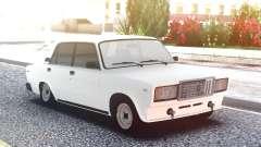 VAZ 2107 Branco Baixos para GTA San Andreas