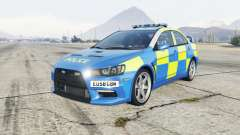 Mitsubishi Lancer Evolution X Essex Police para GTA 5