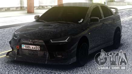 Mitsubishi Lancer Evolution X Black para GTA San Andreas