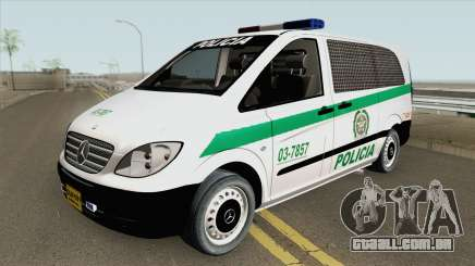 Mercedes-Benz Vito (Patrullas Colombianas) para GTA San Andreas