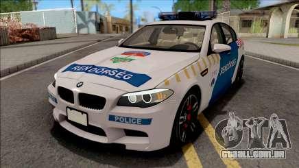 BMW M5 F10 Magyar Rendorseg para GTA San Andreas