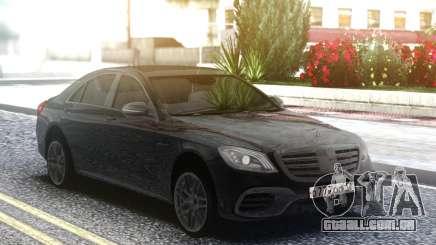 Mercedes-Benz S63 AMG W222 Black para GTA San Andreas