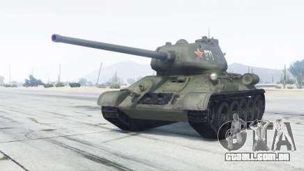 T-34-85 cor verde para GTA 5