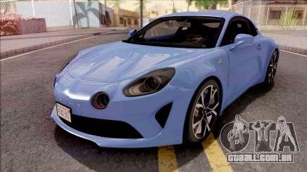 Alpine A110 2017 para GTA San Andreas