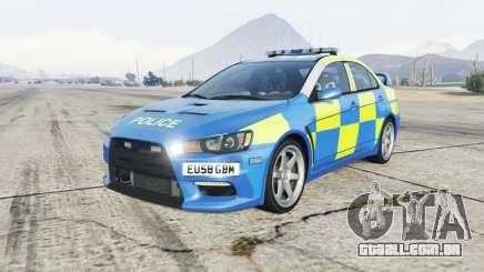 Mitsubishi Lancer Evolution X Essex Police para GTA 5