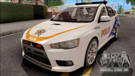 Mitsubishi Lancer Evolution X PDRM White para GTA San Andreas
