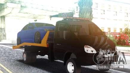Caminhão de reboque GAZ-3302 com um Carro no telhado para GTA San Andreas