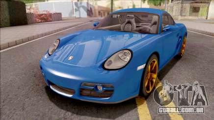 Porsche Cayman S Blue para GTA San Andreas