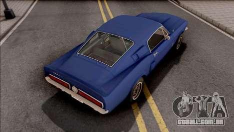 Ford Mustang Shelby GT500 1967 para GTA San Andreas