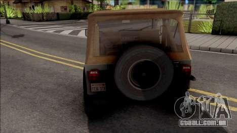 Jeep Wrangler 1988 para GTA San Andreas
