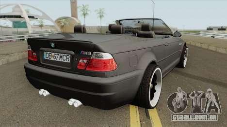 BMW M3 E46 Cabrio para GTA San Andreas