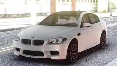 BMW M5 F10 White Sedan para GTA San Andreas