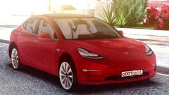 Tesla Model 3 Red para GTA San Andreas
