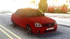 Lada 2170 Priora Vermelho para GTA San Andreas