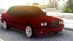 BMW E30 Original Red para GTA San Andreas