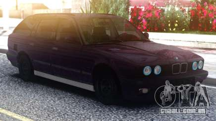 BMW E34 525 Purple para GTA San Andreas