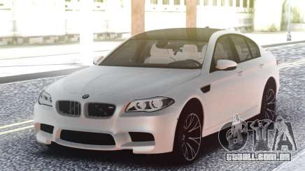 BMW M5 F10 White Sedan para GTA San Andreas