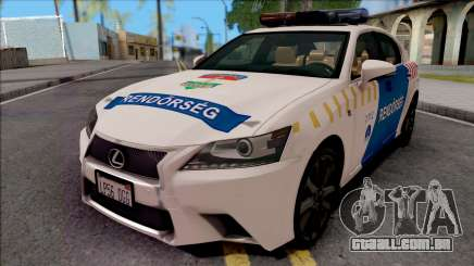 Lexus GS350 Magyar Rendorseg para GTA San Andreas