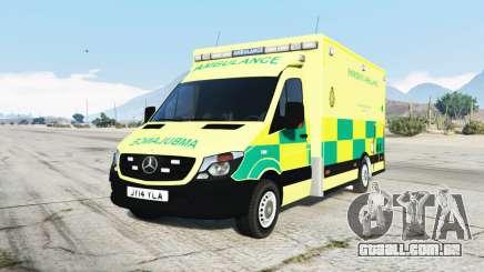 Mercedes-Benz Sprinter 2014 British Ambulance para GTA 5