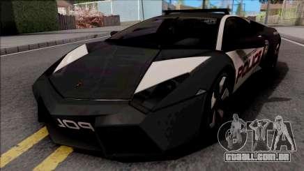 Lamborghini Reventon Police Black para GTA San Andreas