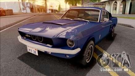 Ford Mustang Shelby GT500 1967 Blue para GTA San Andreas