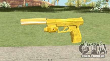 Wolfram P2K Gold Silenced (007 Nightfire) para GTA San Andreas