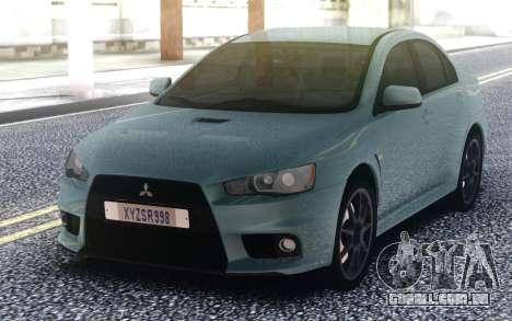 Mitsubishi Lancer Evo 10 para GTA San Andreas