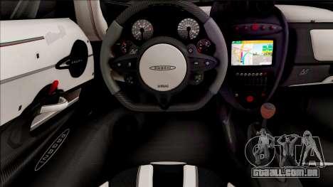 Pagani Huayra BC Roadster 2019 para GTA San Andreas