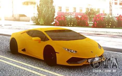 Lamborgini Huracan para GTA San Andreas