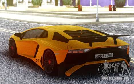 Lamborghini Aventador SuperVeloce para GTA San Andreas