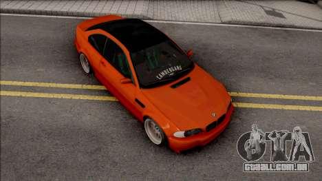 BMW 3-er E46 2000 Stance by Hazzard Garage para GTA San Andreas