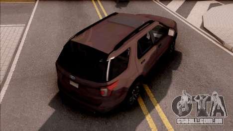 Ford Explorer 2019 para GTA San Andreas