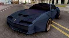 Pontiac Trans AM 1987 Blue para GTA San Andreas
