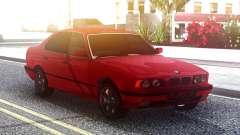 BMW 525i E34 Original Red para GTA San Andreas