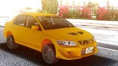 Mitsubishi Lancer Evolution VII Yellow para GTA San Andreas