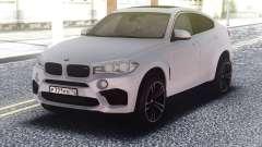 BMW X6M White Original para GTA San Andreas