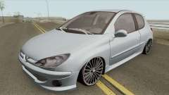 Peugeot 206 High Quality para GTA San Andreas