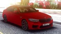 BMW M5 F90 Original Red para GTA San Andreas
