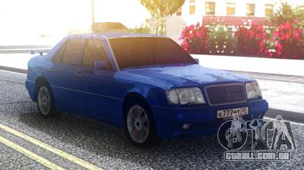 Mercedes-Benz E500 W124 Blue para GTA San Andreas