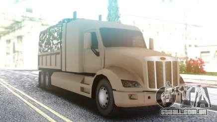 Peterbilt 579 Army Truck LQ para GTA San Andreas
