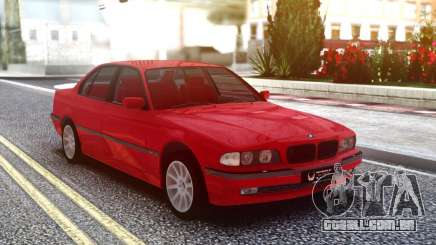 BMW 730i Original Red para GTA San Andreas